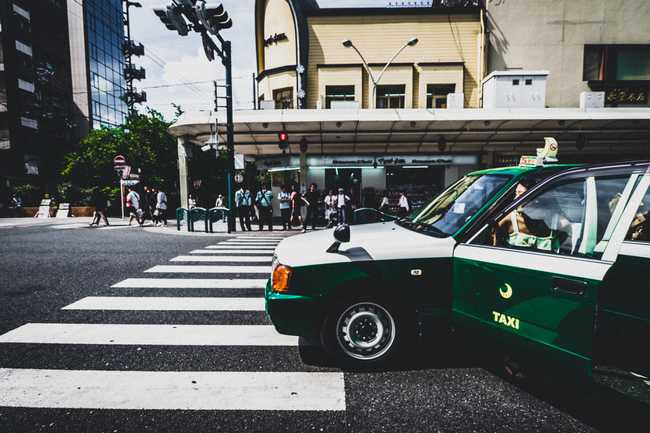 The unmistakable green taxis